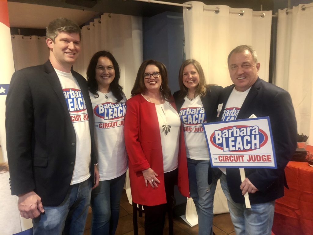 Barbara Leach for Judge Fundraiser with Massey Law Group and Greenlee Law
