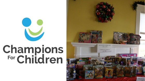 Champions for Children Holiday Store that provides toys for more than 1,000 children
