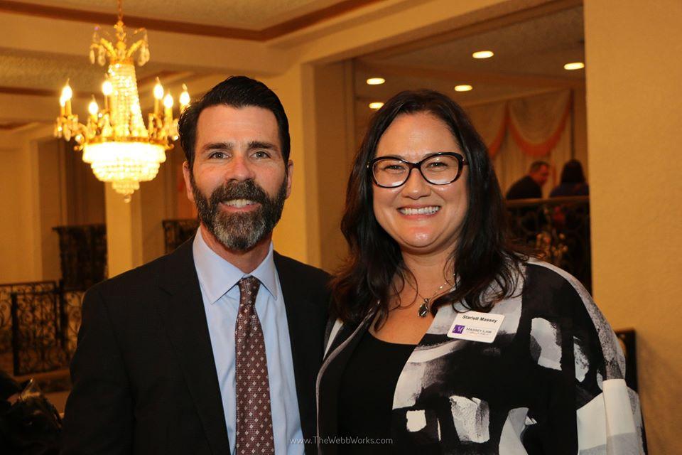 John Schifino and Starlett Massey at the campaign fundraiser